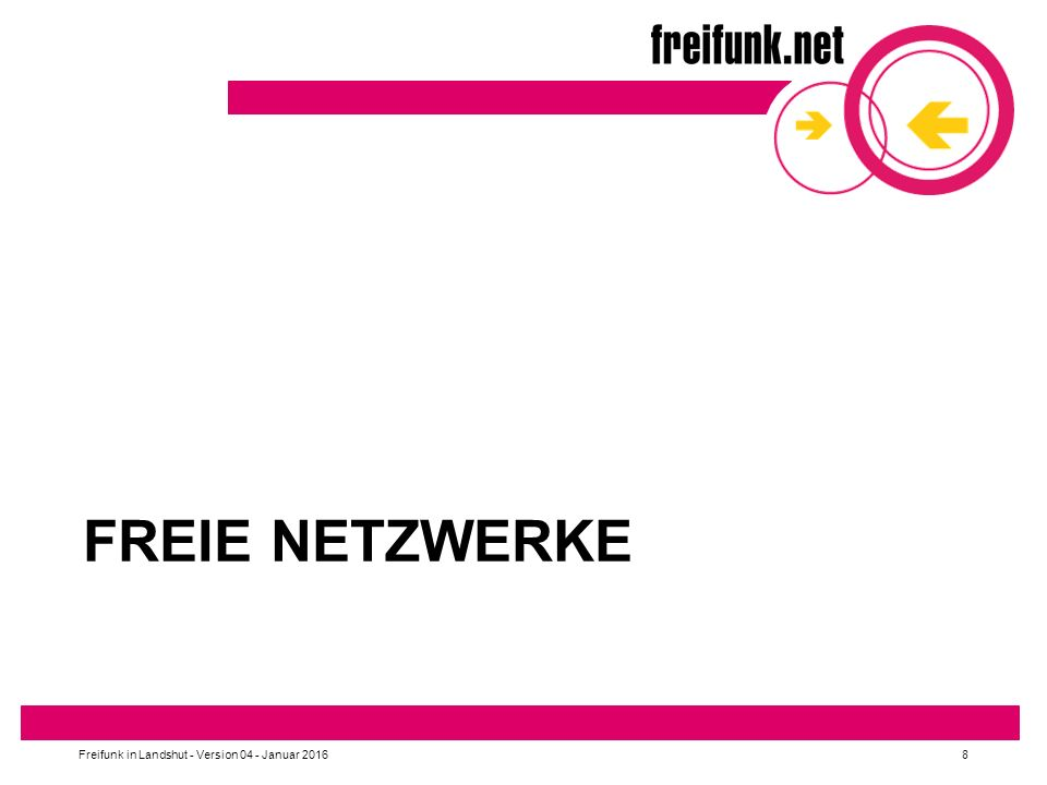 Freie Netzwerke Freifunk in Landshut - Version 04 - Januar 2016