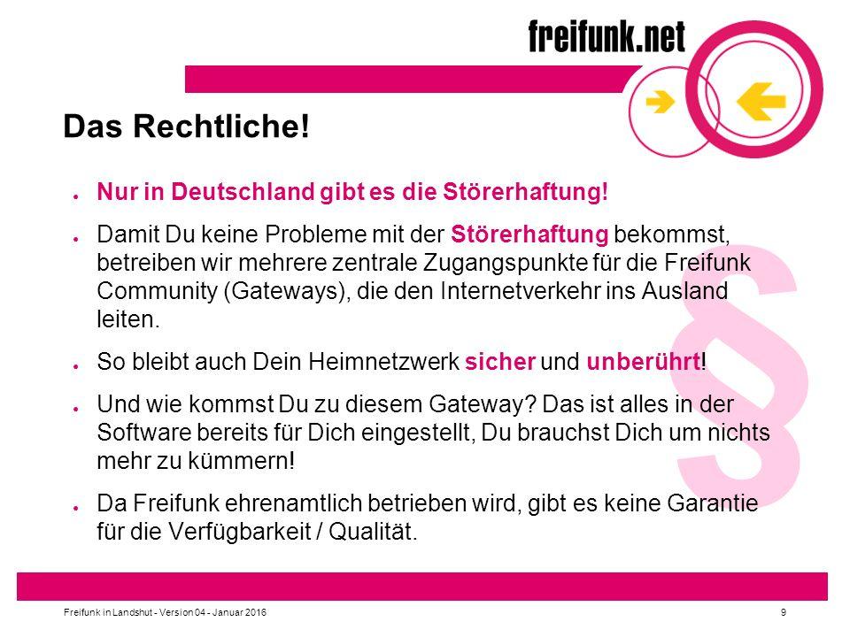 § Das Rechtliche! Nur in Deutschland gibt es die Störerhaftung!
