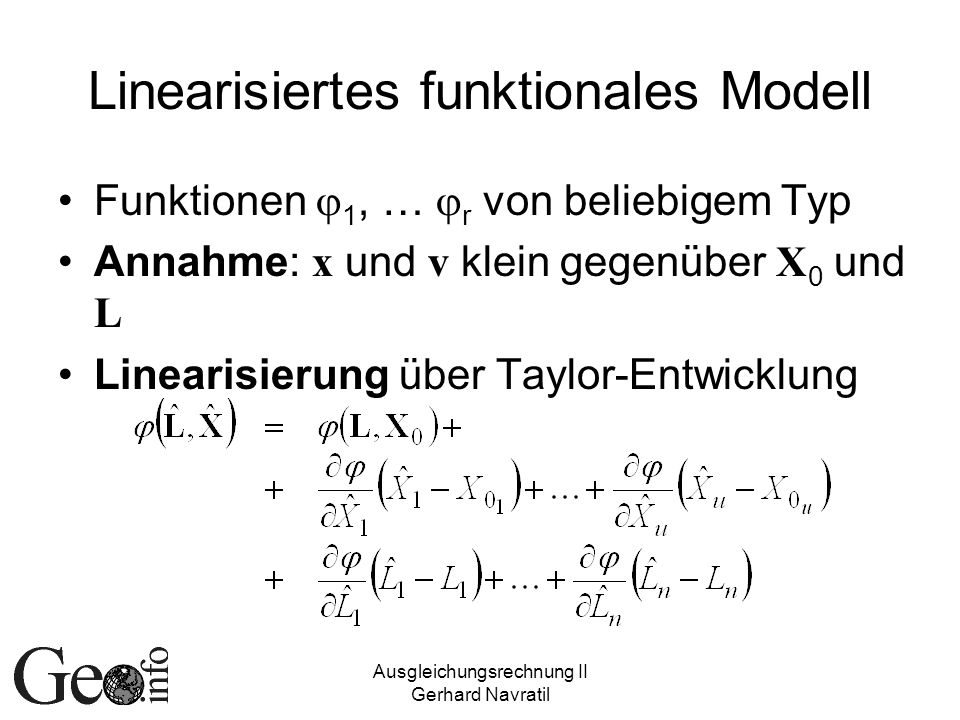 Linearisiertes funktionales Modell