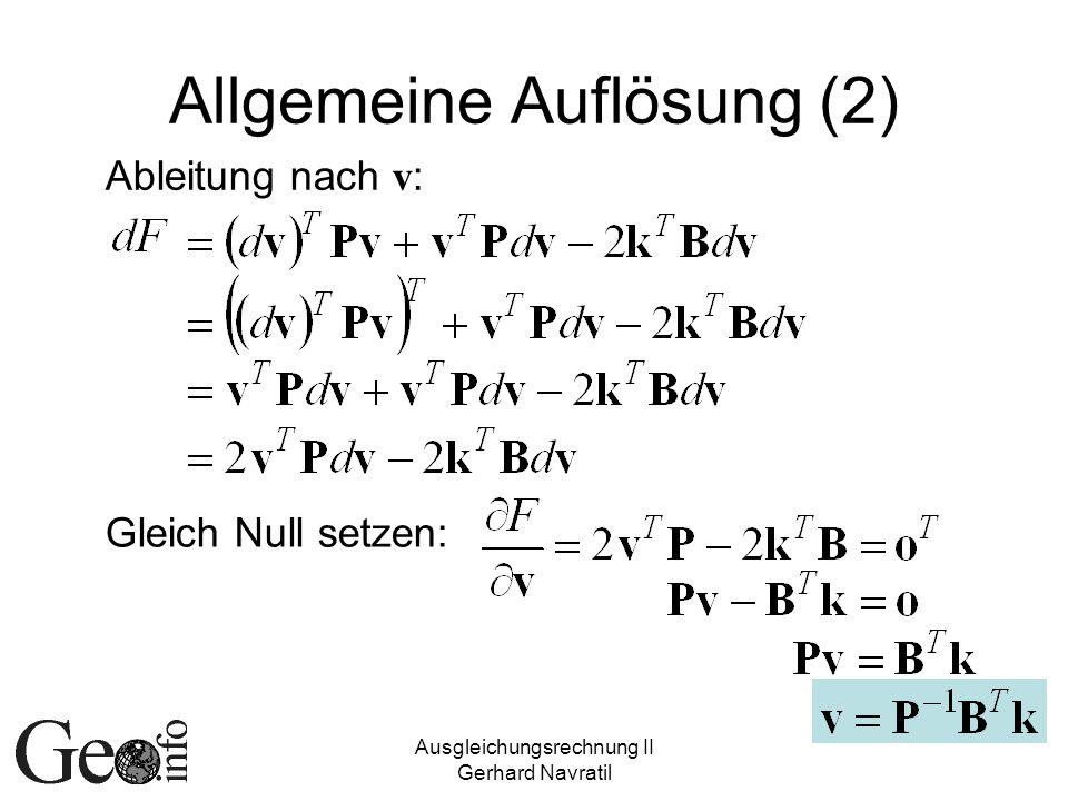 Allgemeine Auflösung (2)