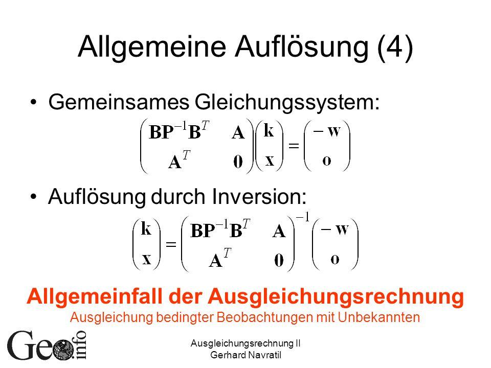Allgemeine Auflösung (4)