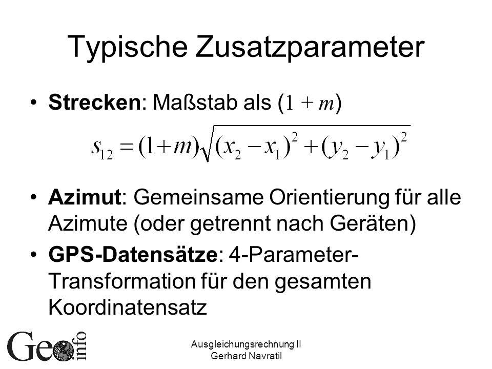 Typische Zusatzparameter