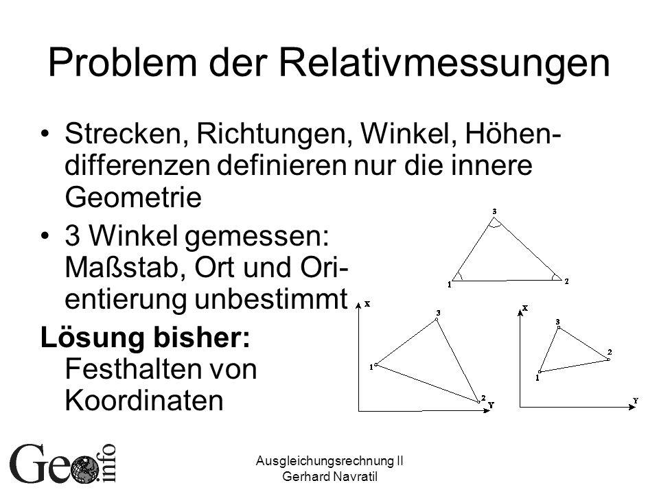 Problem der Relativmessungen