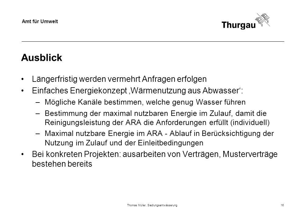 Thomas Müller, Siedlungsentwässerung