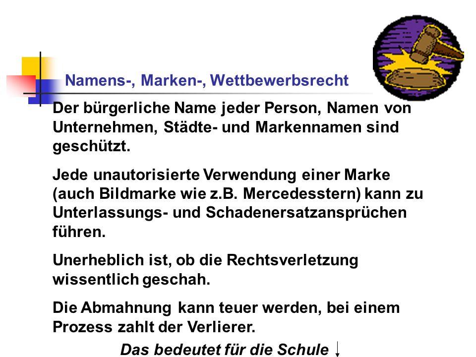 Namens-, Marken-, Wettbewerbsrecht