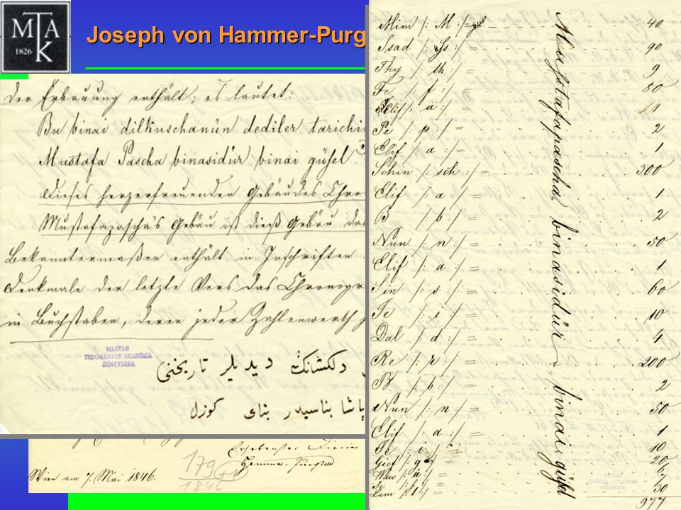 Joseph von Hammer-Purgstall, 1846