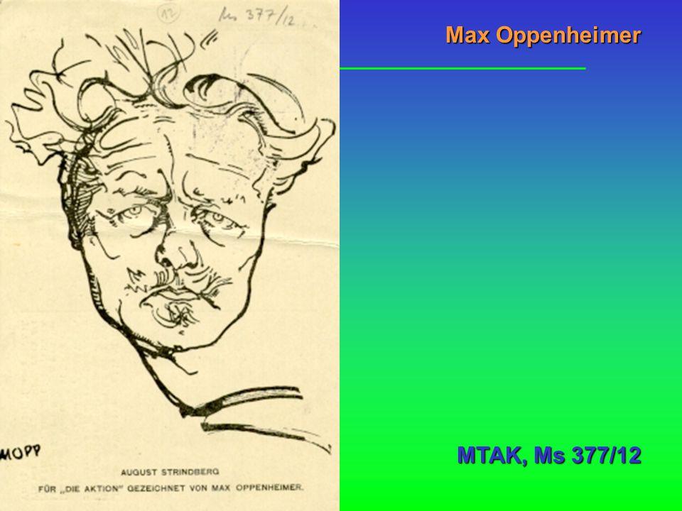 Max Oppenheimer MTAK, Ms 377/12