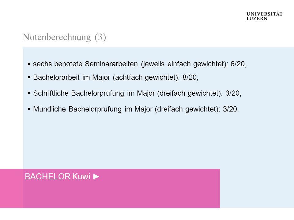 Notenberechnung (3) BACHELOR Kuwi ►