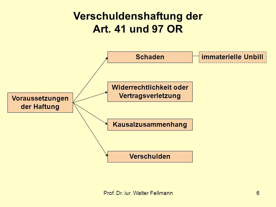 Verschuldenshaftung der Art. 41 und 97 OR