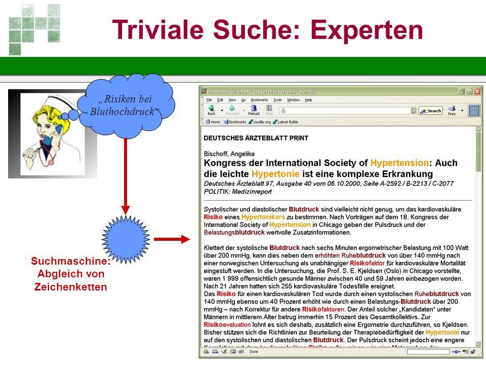 Triviale Suche: Experten Abgleich von Zeichenketten