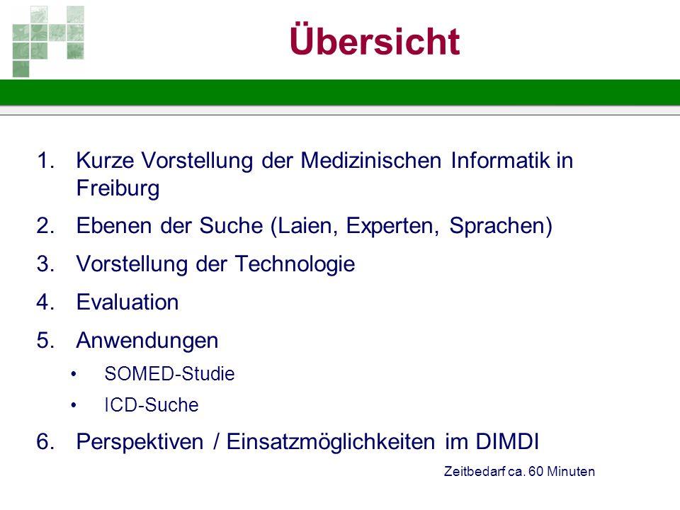 Übersicht Kurze Vorstellung der Medizinischen Informatik in Freiburg