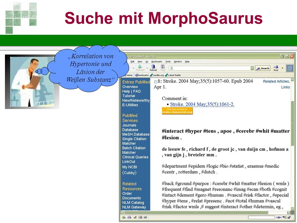 Suche mit MorphoSaurus