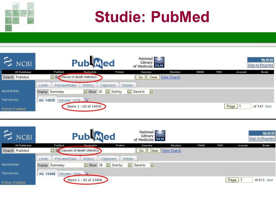 Studie: PubMed