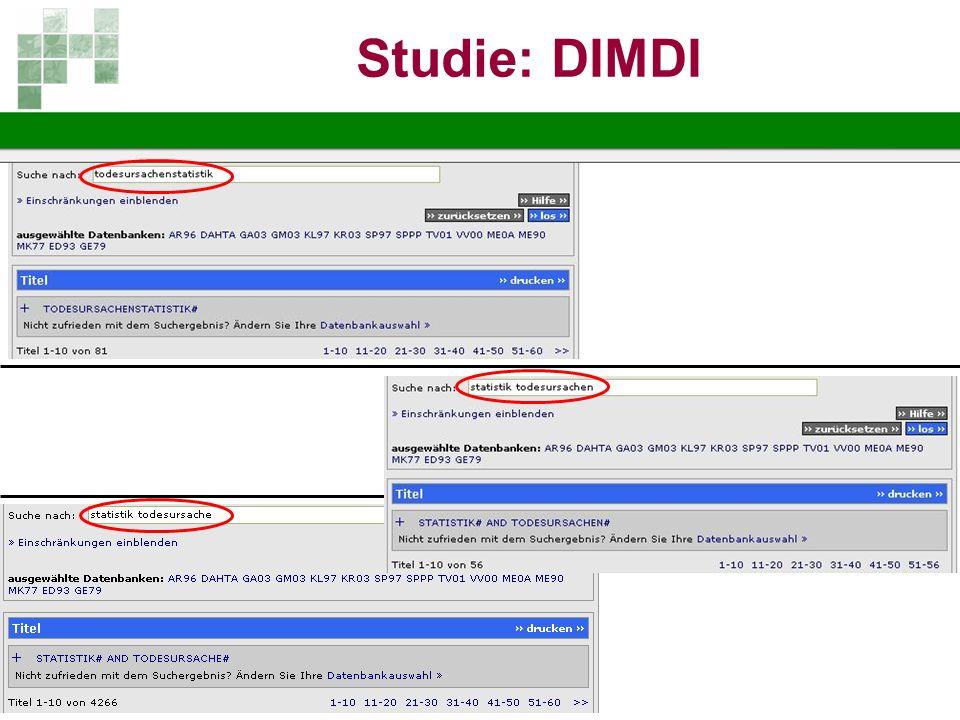 Studie: DIMDI