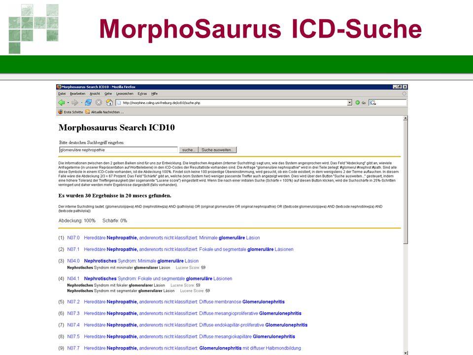 MorphoSaurus ICD-Suche