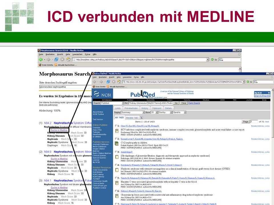 ICD verbunden mit MEDLINE