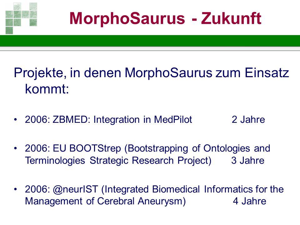 MorphoSaurus - Zukunft
