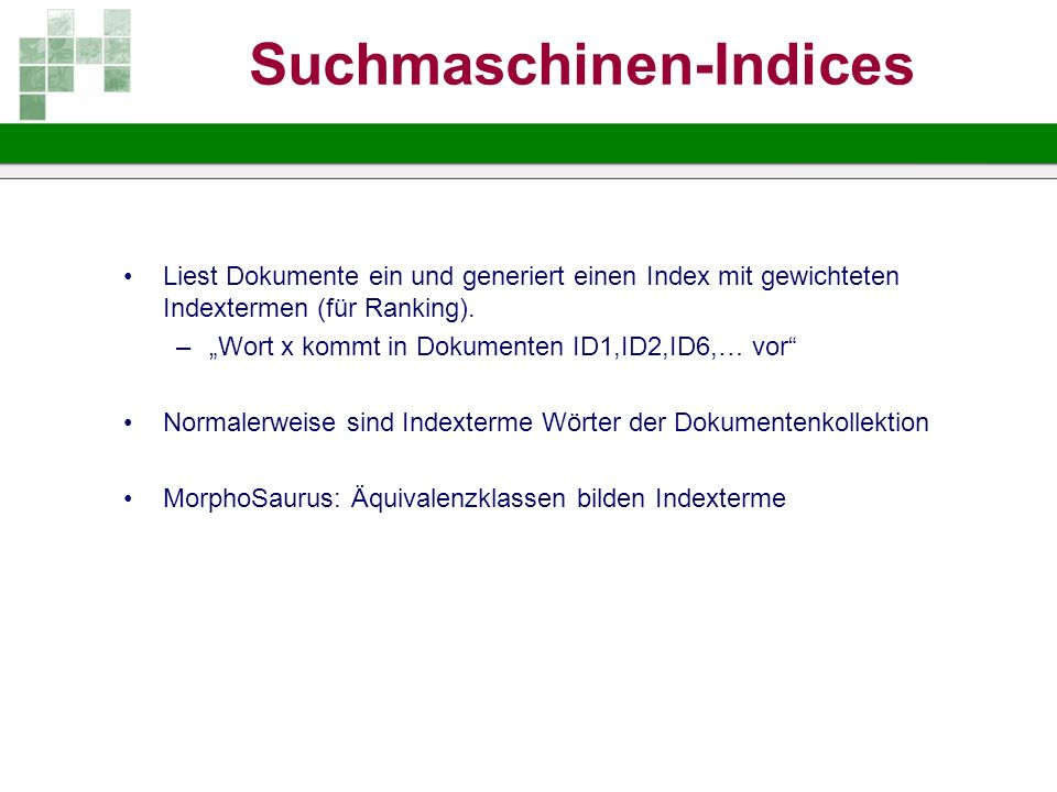 Suchmaschinen-Indices