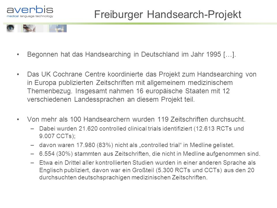 Freiburger Handsearch-Projekt