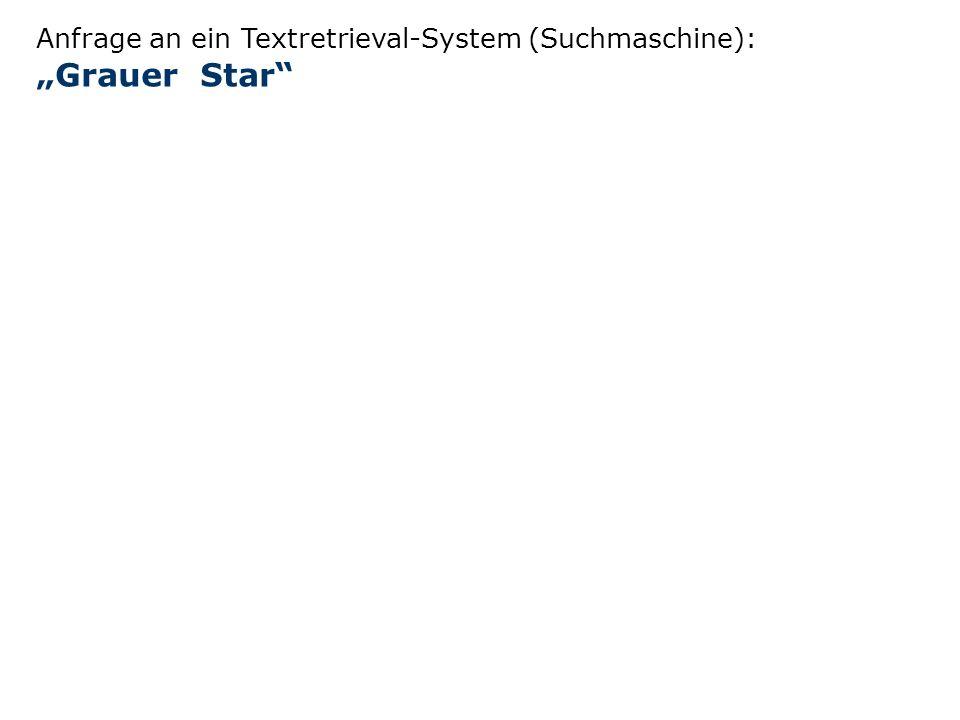 """Anfrage an ein Textretrieval-System (Suchmaschine): """"Grauer Star"""