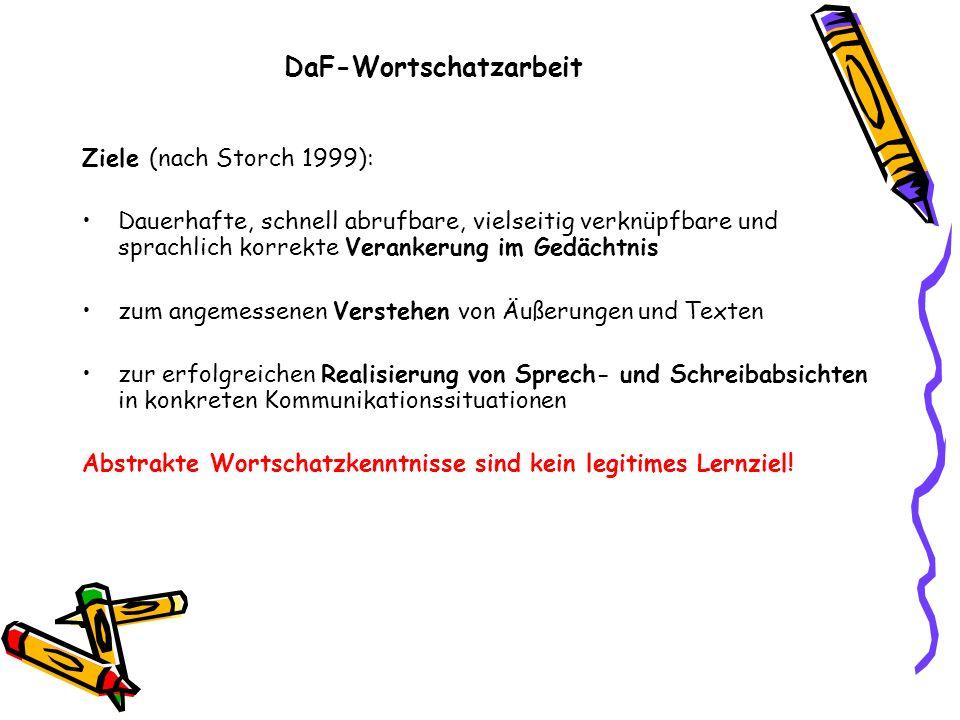 DaF-Wortschatzarbeit