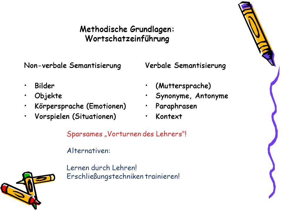 Methodische Grundlagen: Wortschatzeinführung