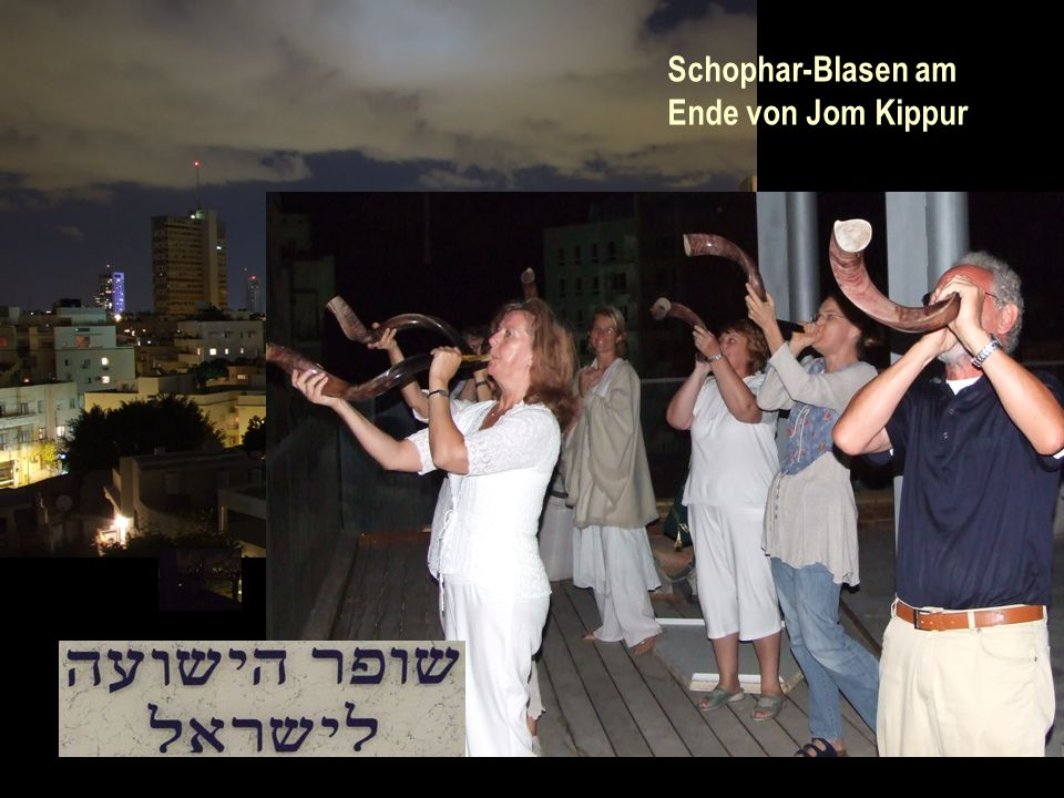 Schophar-Blasen am Ende von Jom Kippur