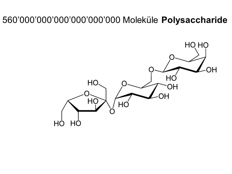 560'000'000'000'000'000'000 Moleküle Polysaccharide