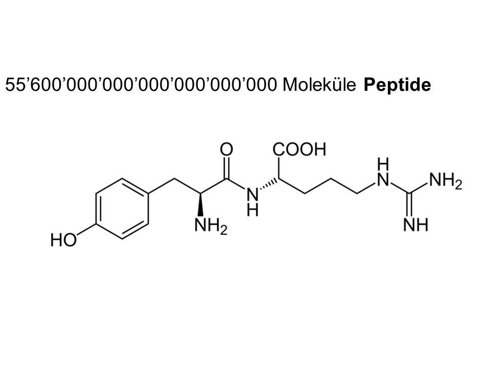 55'600'000'000'000'000'000'000 Moleküle Peptide