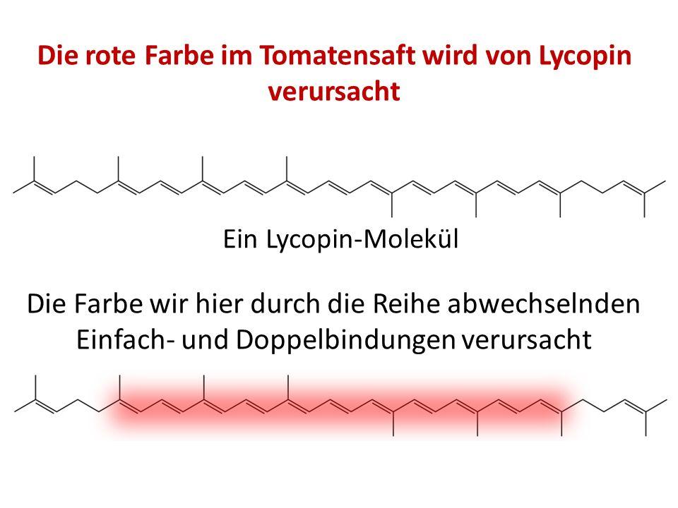 Die rote Farbe im Tomatensaft wird von Lycopin verursacht