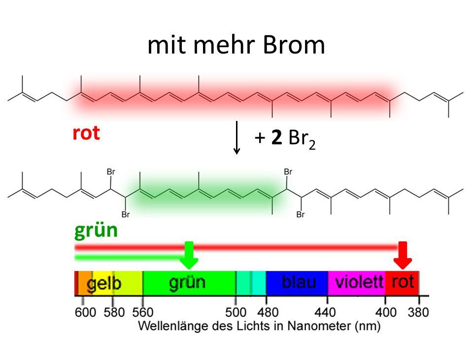 mit mehr Brom rot + 2 Br2 grün