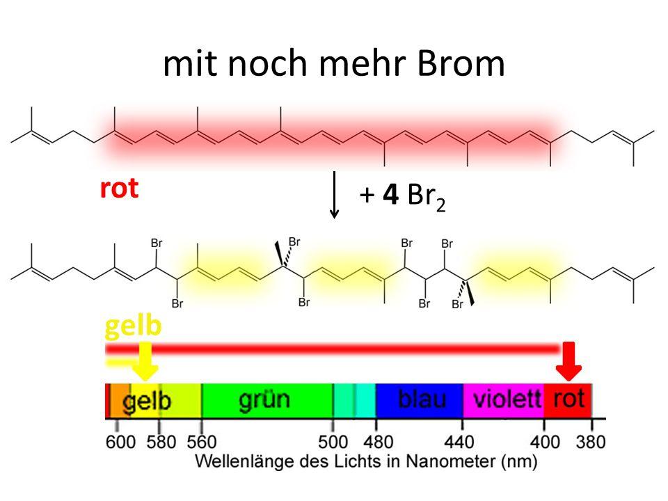 mit noch mehr Brom rot + 4 Br2 gelb