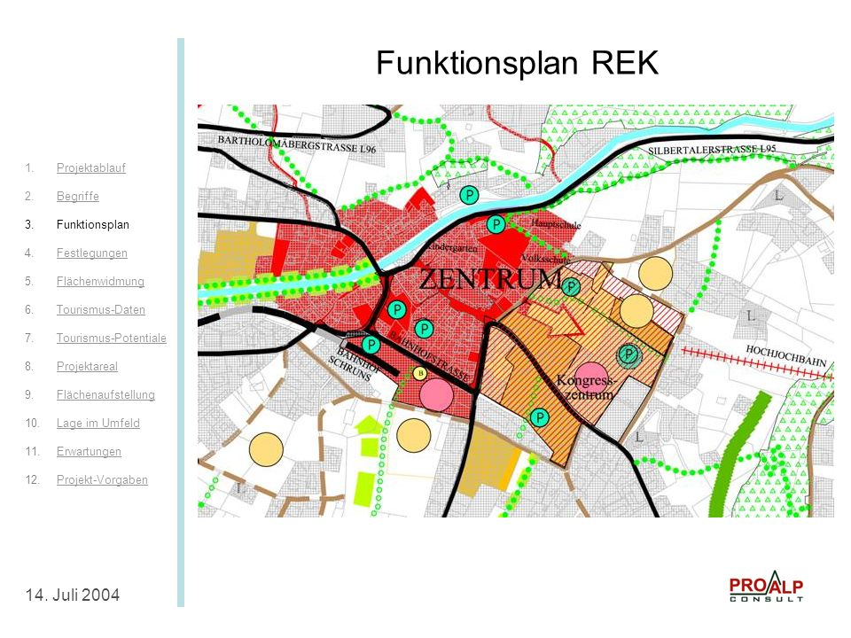 Funktionsplan REK Funktionsplan REK 14. Juli 2004 Projektablauf