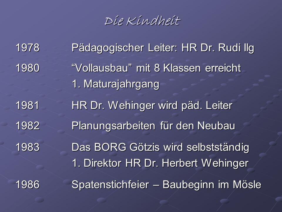Die Kindheit 1978 Pädagogischer Leiter: HR Dr. Rudi Ilg