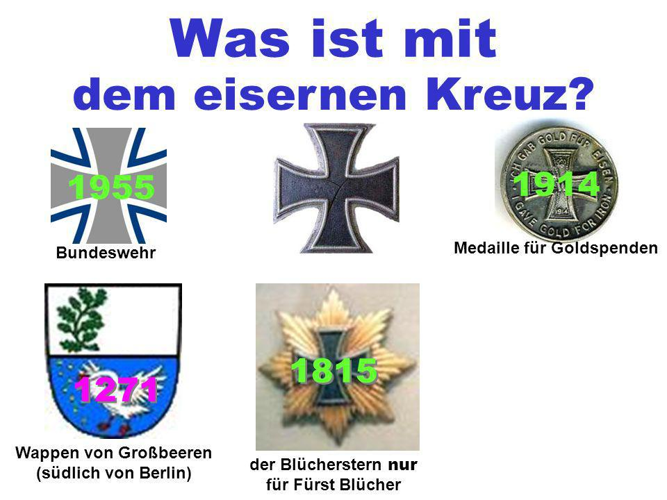 Medaille für Goldspenden Wappen von Großbeeren (südlich von Berlin)