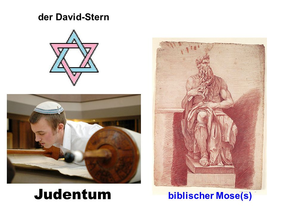Judentum der David-Stern verbindet das MÄNNLICHE und WEIBLICHE