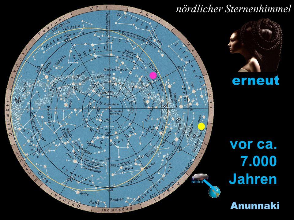 vor ca. 7.000 Jahren erneut l l Y nördlicher Sternenhimmel Anunnaki l