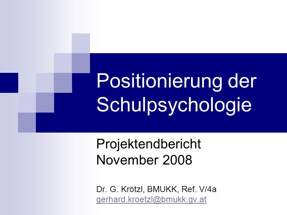 Positionierung der Schulpsychologie