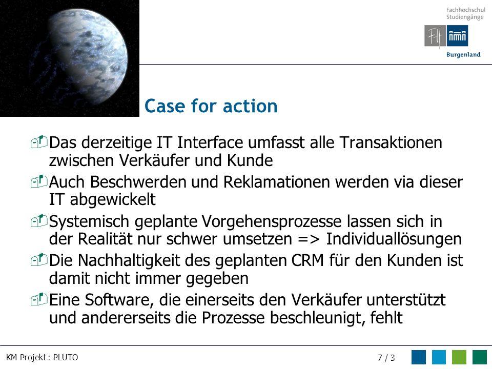 Case for action Das derzeitige IT Interface umfasst alle Transaktionen zwischen Verkäufer und Kunde.