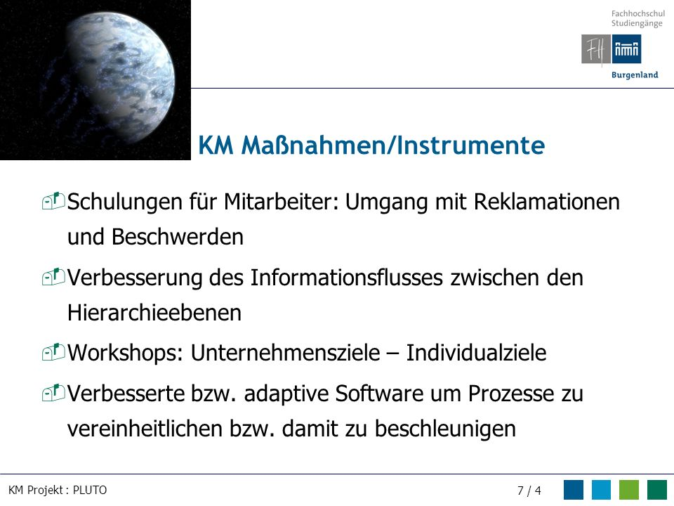KM Maßnahmen/Instrumente