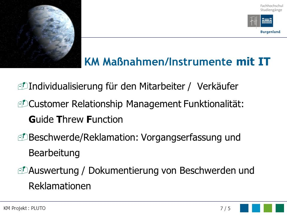 KM Maßnahmen/Instrumente mit IT