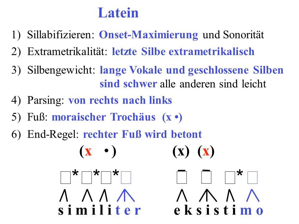 σ* σ* σ* σ* σ σ σ* σ* Latein ( x • ) (x) (x) s i m i l i t e r