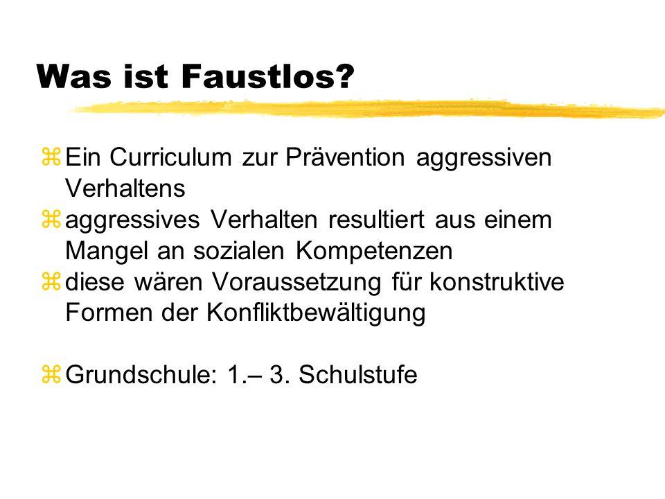 Was ist Faustlos Ein Curriculum zur Prävention aggressiven Verhaltens