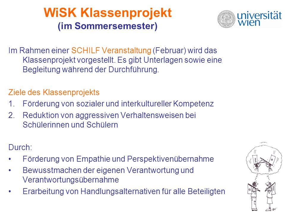 WiSK Klassenprojekt (im Sommersemester)