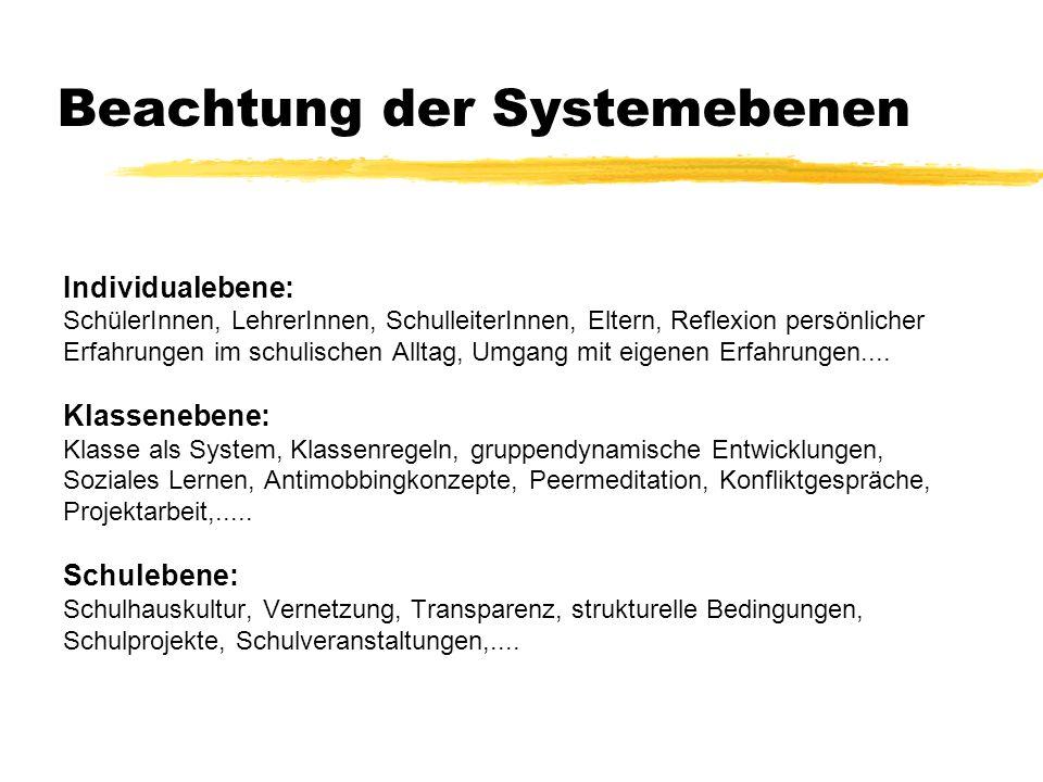 Beachtung der Systemebenen