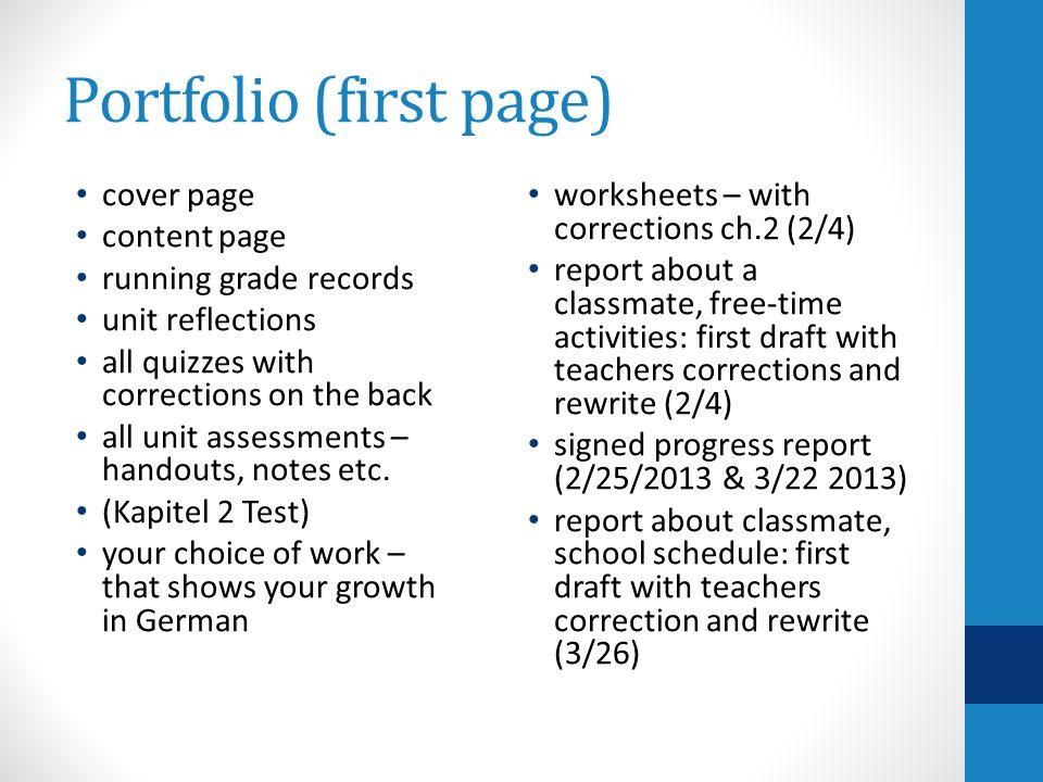 Portfolio (first page)