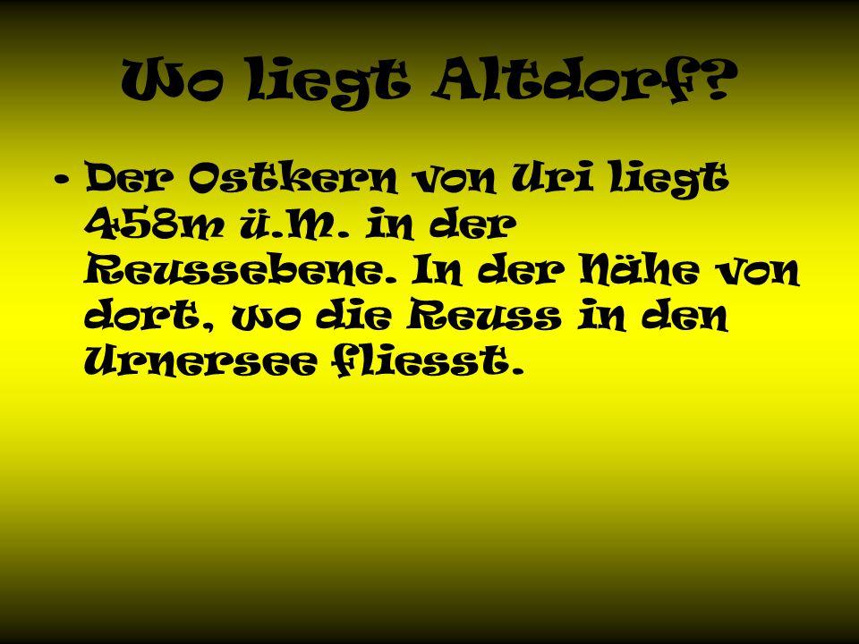 Wo liegt Altdorf. Der Ostkern von Uri liegt 458m ü.M.