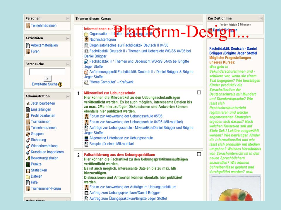 Plattform-Design...