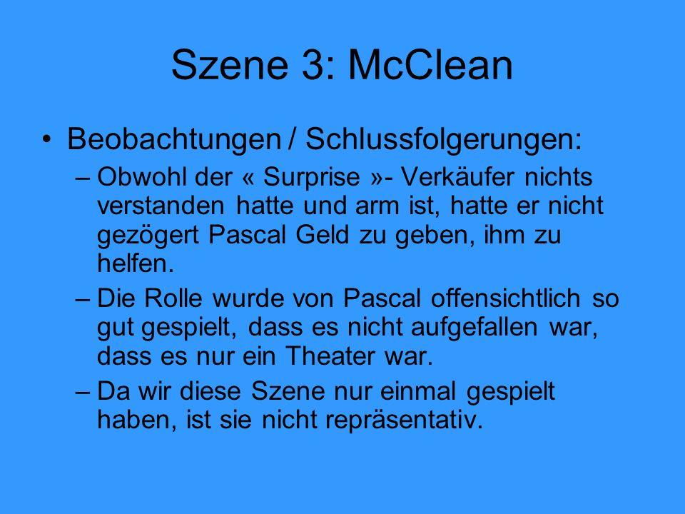 Szene 3: McClean Beobachtungen / Schlussfolgerungen: