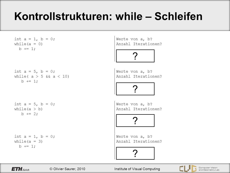 Kontrollstrukturen: while – Schleifen